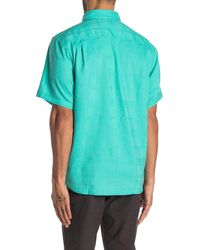 Tommy Bahama Costa Tautira Short Sleeve Shirt - Blue
