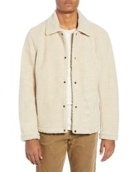 Vince Faux Shearling Coach's Jacket - Natural