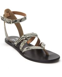 Matisse - Ti Amo Snake Embossed Leather Sandal - Lyst