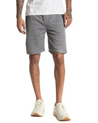 The Narrows Solid Heat Seal Zip Pocket Fleece Shorts - Black