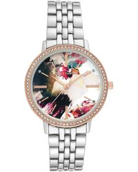 Vince Camuto Women's Quartz Crystal Bracelet Watch, 34mm - Metallic