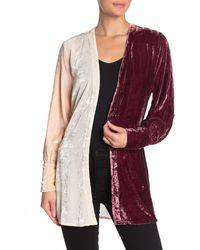 Chaser - Bishop Sleeve Belted Velvet Kimono - Lyst