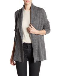 Sofia Cashmere | Textured Shawl Collar Cashmere Cardigan | Lyst