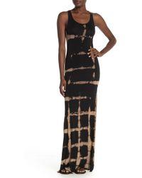 Go Couture Racerback Knit Maxi Dress - Black