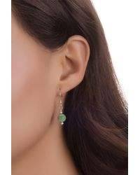 Relios - Sterling Silver Green Turquoise Drop Earrings - Lyst