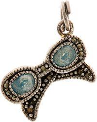 Judith Jack - Antique Sterling Silver Swarovski Marcasite Charm - Lyst