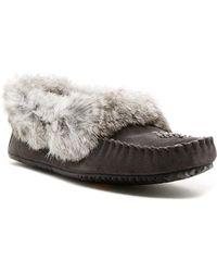 Manitobah Mukluks - Genuine Rabbit Fur Trim Street Moccasin - Lyst