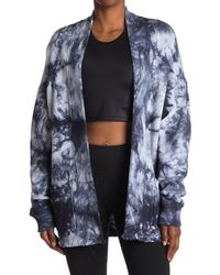 Kensie Tie Dye Open Front Cardigan - Blue