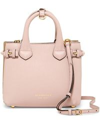 Burberry Leather Satchel - Pink