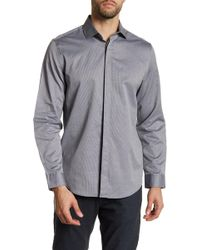 CALVIN KLEIN 205W39NYC - Collared Long Sleeve Jacquard Shirt - Lyst