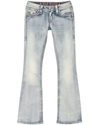 Rock Revival Faded Bootcut Jeans - Blue