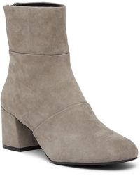 Kenneth Cole | Eryc Pleated Block Heel Boot | Lyst