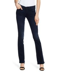 True Religion - Becca Mid Rise Bootcut Flap Pocket Jeans - Lyst