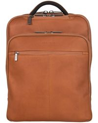 """Kenneth Cole Reaction Colombian Leather Single Compartment 15.0"""" Computer Travel Backpack - Brown"""