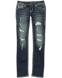 Rock Revival Straight Leg Jeans - Blue