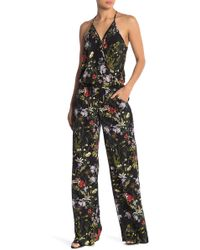 On The Road - Florence Floral Wide Leg Jumpsuit - Lyst