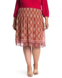 Max Studio Gathered Waist Georgette Skirt