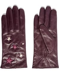 TOPSHOP - Metallic Star Leather Gloves - Lyst