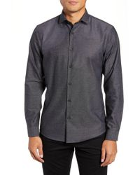 Calibrate Slim Fit Non-iron Textured Sport Shirt - Black