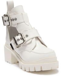 Jeffrey Campbell Lug Sole Open Ankle Boot - White