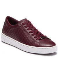 Michael Kors - Colby Textured Leather Sneaker - Lyst