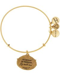 ALEX AND ANI - 'guardian Of Freedom' Expandable Charm Bangle - Lyst