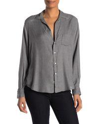 Frank & Eileen Eileen Front Button Front Pocket Shirt - Gray