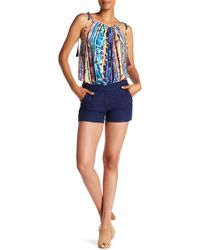 Laundry by Shelli Segal - Lace-up Side Eyelet Shorts - Lyst