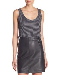 Kenneth Cole - Striped Side Studded Tank - Lyst