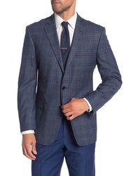 Brooks Brothers Blue Plaid Two Button Notch Lapel Regent Fit Suit Separates Jacket