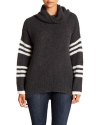 360cashmere - Rashelle Striped Cashmere Turtleneck Sweater - Lyst