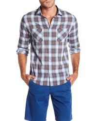Good Man Brand - Trim Fit Plaid Sport Shirt - Lyst