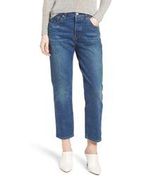 Levi's - (r) 501(r) High Waist Crop Jeans (rebel) - Lyst