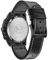 Citizen Men's Standard Leather Eco-drive Watch - Black