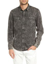 The Rail Acid Wash Denim Shirt - Gray