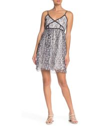 Romeo and Juliet Couture Floral Print Tulle Dress - Black