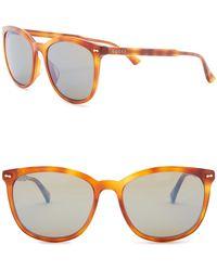 03b3d0b4adf87 Lyst - Gucci 56mm Square Sunglasses in Red