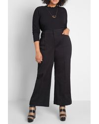 ModCloth The Style Is Yours Wide Leg Pants - Black