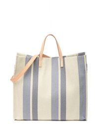 Most Wanted Usa Striped Canvas Picnic Tote - Blue