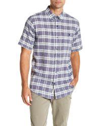 Weatherproof - Short Sleeve Plaid Print Regular Fit Woven Shirt - Lyst