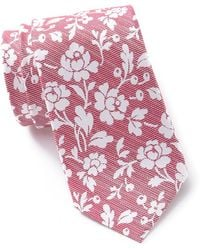 Ben Sherman Nico Floral Silk Tie - Red