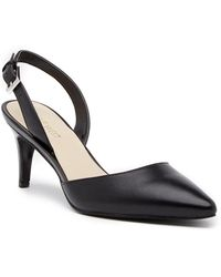 Nine West - Epiphany Slingback Leather Pump - Wide Width Available - Lyst
