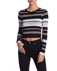 Material Girl - Striped Ribbed Knit Sweater - Lyst