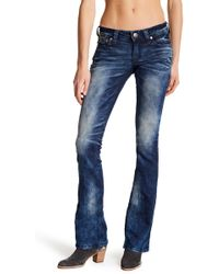 Affliction - Jade Rising Redwood Distressed Jeans - Lyst