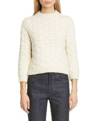 Marc Jacobs Bow Stitch Wool Sweater - White