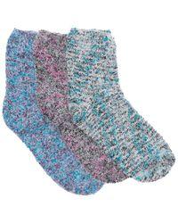 Felina Multi Fuzzy Lounge Socks - Blue