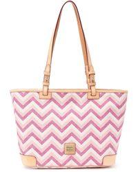 Dooney & Bourke Chevron Small Leisure Shopper - Pink
