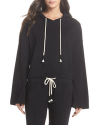 Make + Model - Cozy Up Cropped Ribbed Hoodie - Lyst