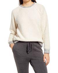 Lou & Grey Wave Loop Reversible Terry Sweatshirt - Multicolor