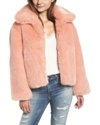Pam & Gela - Boxy Faux Fur Coat - Lyst